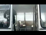Загорелся автобус с журналистами