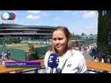 Evgeniya Rodina | Interview | Wimbledon 3R