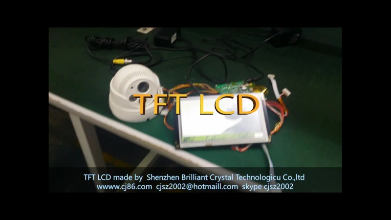 TFT LCD display module support Camera function and RS232 RS485 TTL USB port