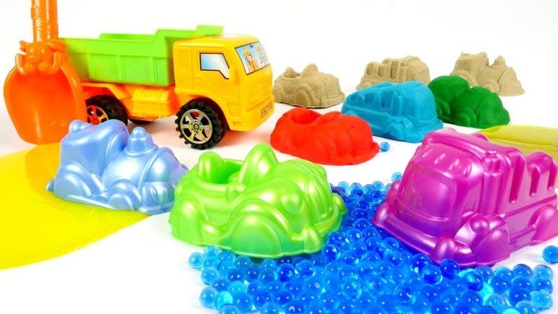 Video per bambini. Modelliamo le macchine. Giochi con la sabbia