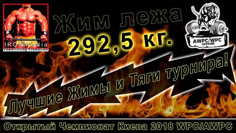 Лучшие жимы и тяги Чемпионат Киева WPC AWPC 2018