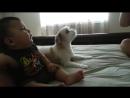 Дети и собаки лучшие друзья и охрана!