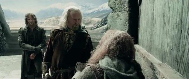 Король Теоден против хоббитов Часть 1