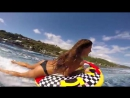 Таити_АВРТур KALOEA Surfer Girls - Tubing in Tahiti (HD Drone ) Funny Wipeouts