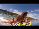 Таити_АВРТур KALOEA Surfer Girls - Tubing in Tahiti (HD Drone ) Funny Wipeouts