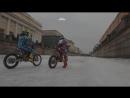 Мотоциклисты проехали пять километров по замёрзшему каналу Грибоедова