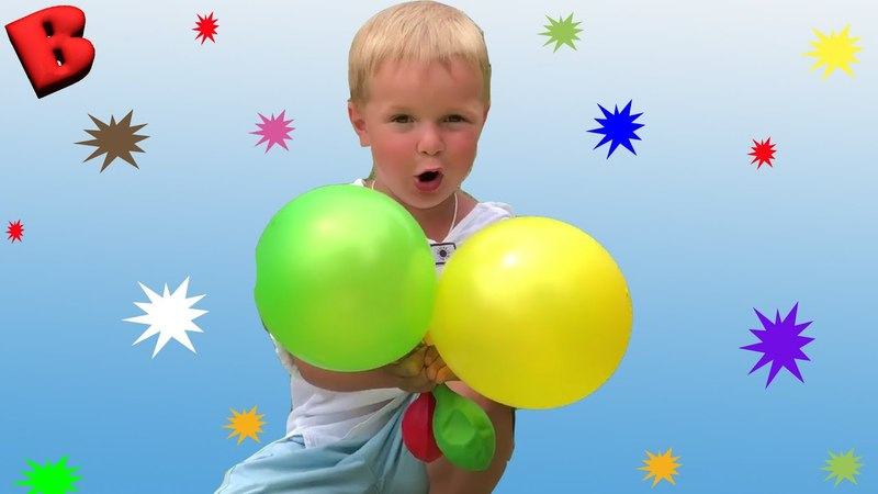Learn colors with Balloons * Kids playing and learning colors for children