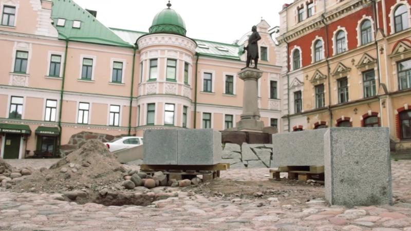 Выборг: Площадь Старой Ратуши оградили от автомобилей