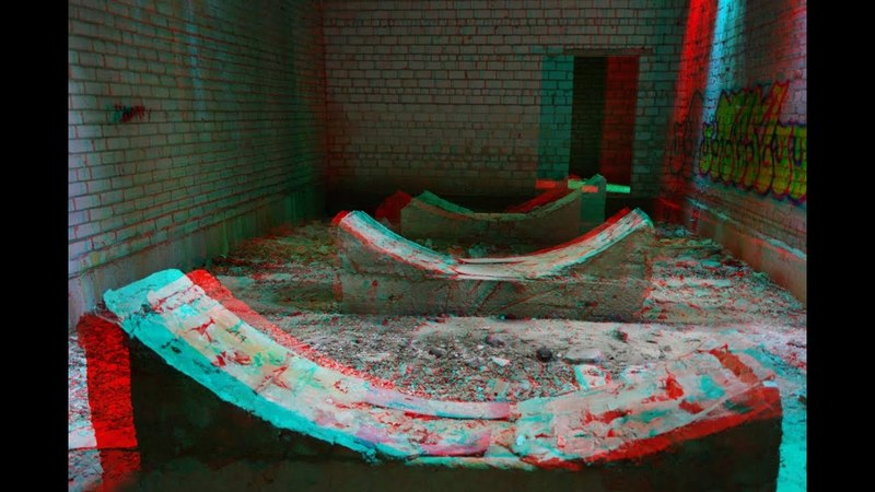 Abandoned Military Base 3D 3D Anaglyph Super 3d video
