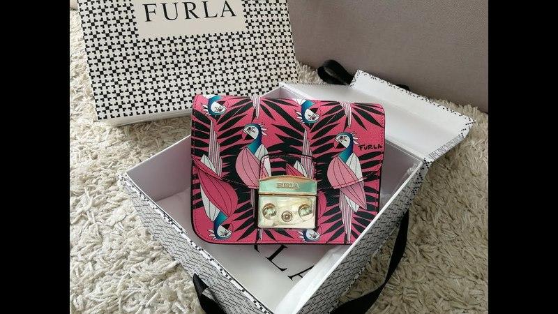 Обзор сумки Furla Metropolis с попугаями и кошелька Furla Daino