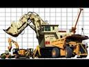 Construction vehicles size comparison