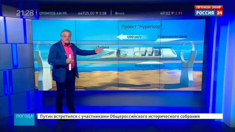 HyperLoop Первое упоминание о проекте в России смотреть онлайн без регистрации