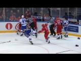 Драка в 4-й игре «Локомотив» vs СКА