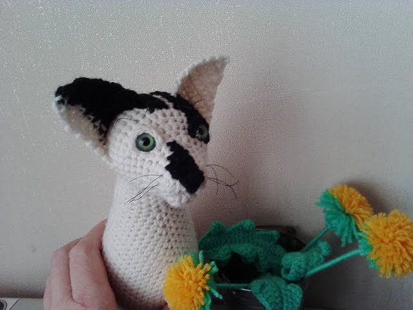 Кот Девон рекс, ч.2. Devon Rex Cat, р.2. Amigurumi. Crochet. Амигуруми. Игрушки крючком.