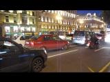 Ночной Невский проспект и байкеры