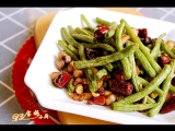 干煸豆角 | Зажаренные стручки фасоли с соусом