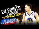 Klay Thompson 2018 Finals Game 1 Golden State Warriors vs Cavaliers -  24  Pts! | FreeDawkins