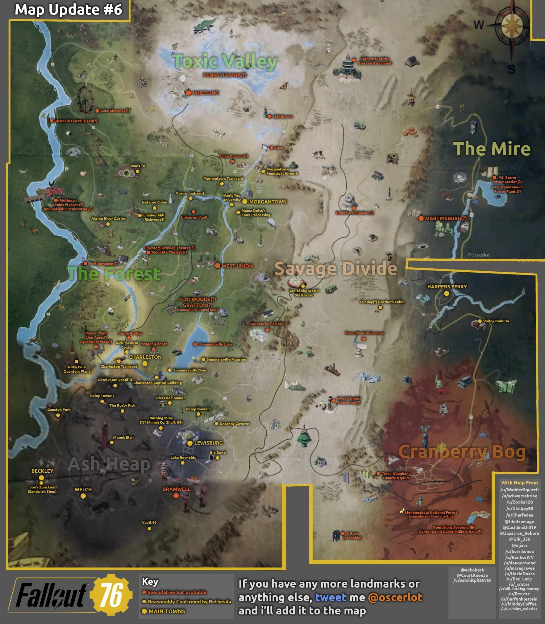 Фанаты практически полностью собрали карту Fallout76