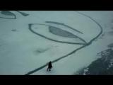 Пермский художник Алексей Илькаев @ilkaif устроил вот такую круть на январской Каме #пермь