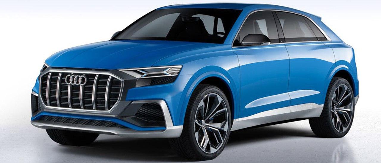 Новый дизайн Audi показали на примере кроссовера Q8