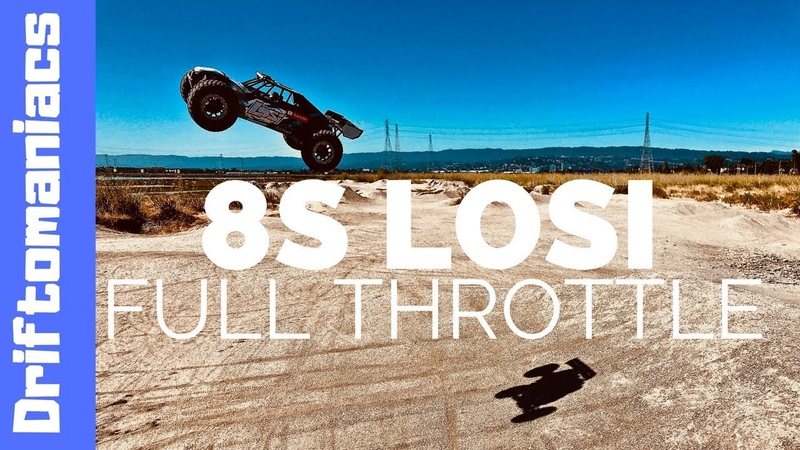 DRIFTOMANIACS - LOSI Desert Buggy XL-E on 8S At Full Throttle