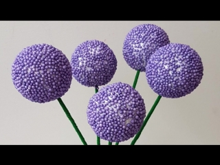 Lavender and other flowers craft. material from aliexpress _ делаем цветы из мат