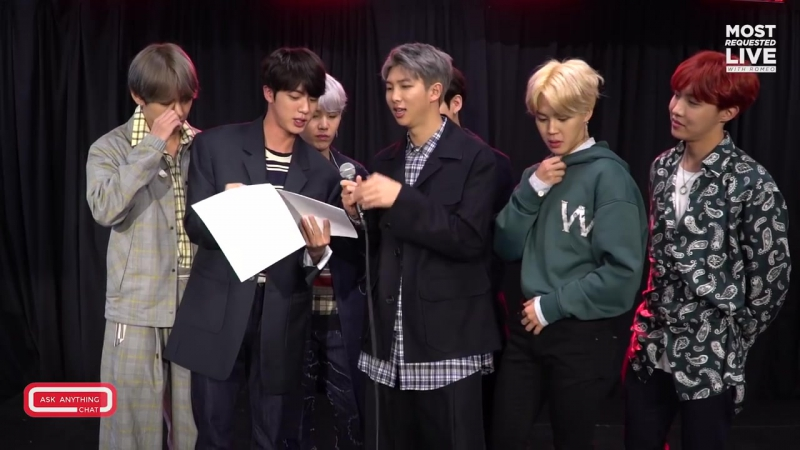 171204 BTS Get Ready For Their Bonus Most Requested Live Bonus Ask Anything Chat