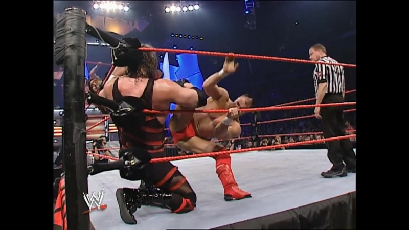 The Rock, Evolution, Kane, Chris Jericho, Booker T 20-Man Battle Royal 2003