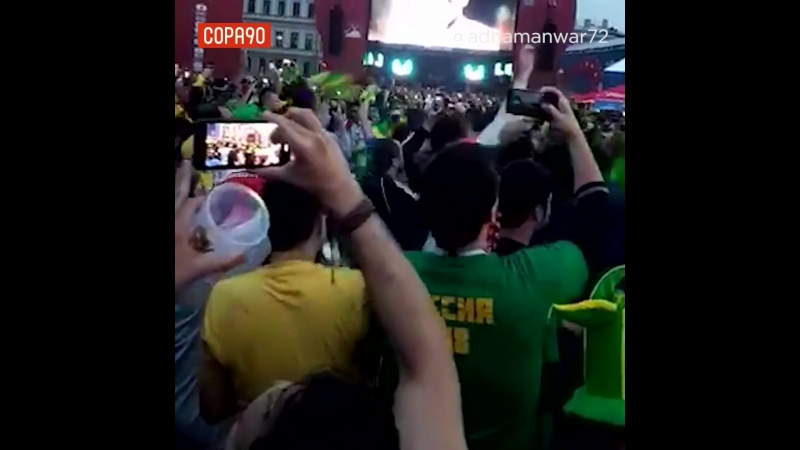Brazil fans after Croatia Win at the World Cup Ф2018
