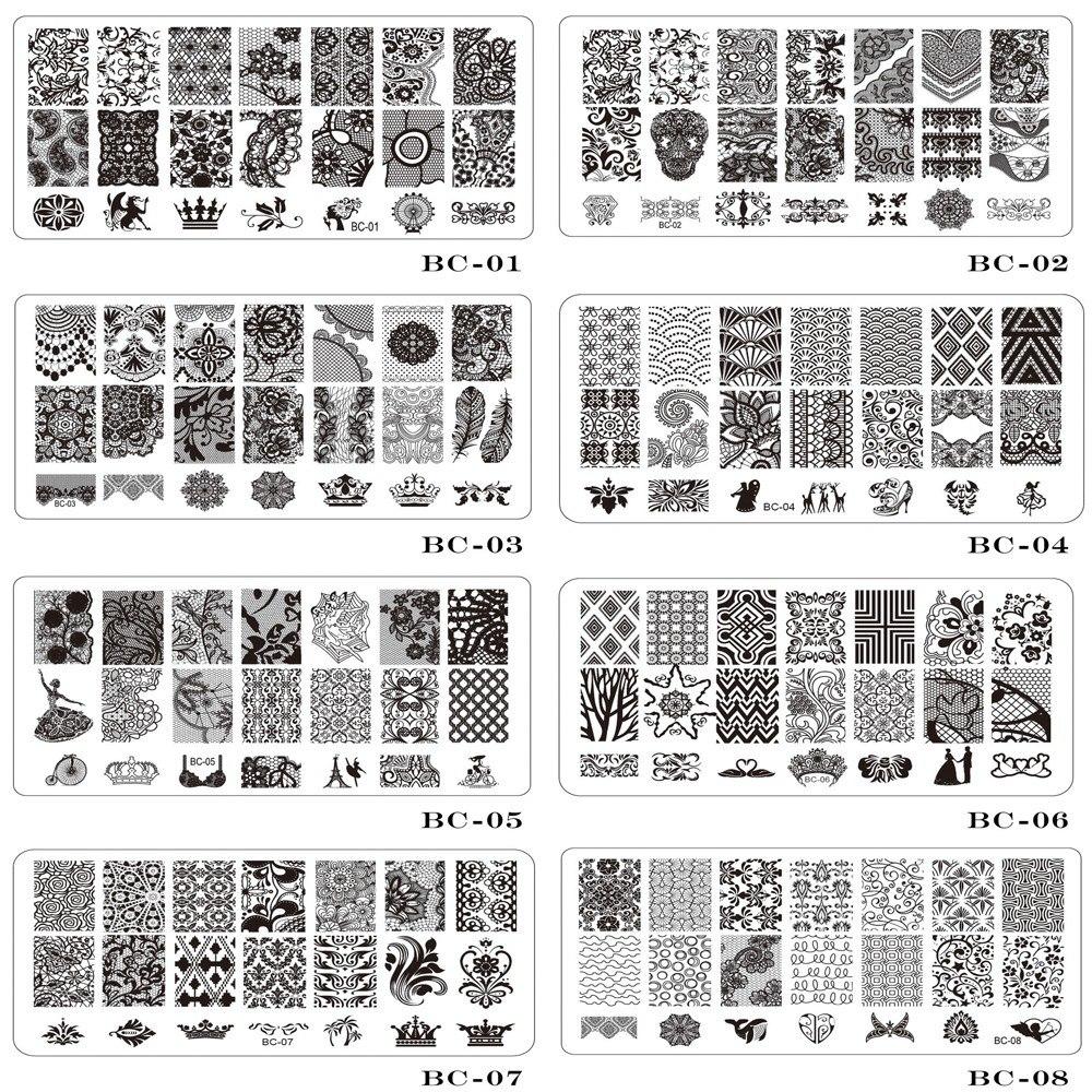 Трафареты для дизайна ногтей за 199