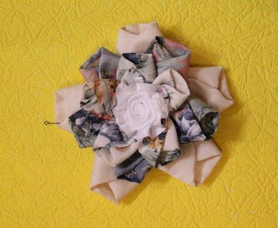 Цветы своими руками оригами из ткани - схема оригами Орхидея.