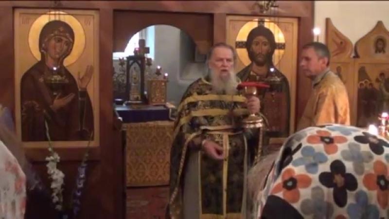 Священник Павел Адельгейм Молитва ко причащению и стихотворение О Мандельшама в храме свв Жён мироносиц Псков 1 8 2013
