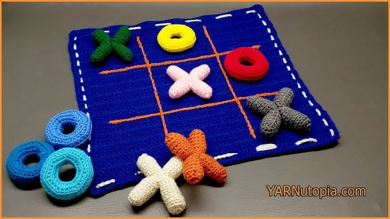 Crochet Tutorial: Tic Tac Toe Game and Tote