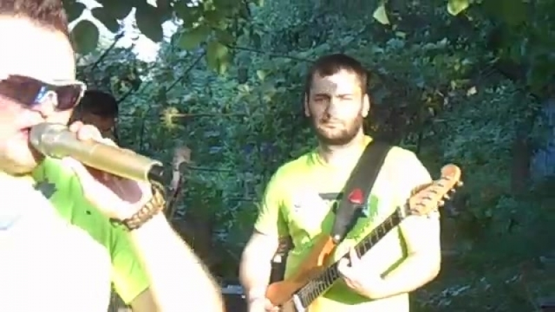 Рок концерт в Табаксовхозе посёлок Панфилова часть 5
