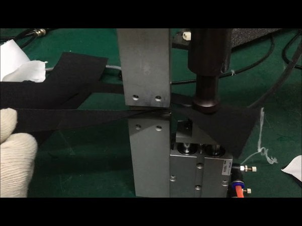 Black Cloth Simultaneous Cutting Welding (Sewing) - CHEERSONIC COS500 Ultrasonic