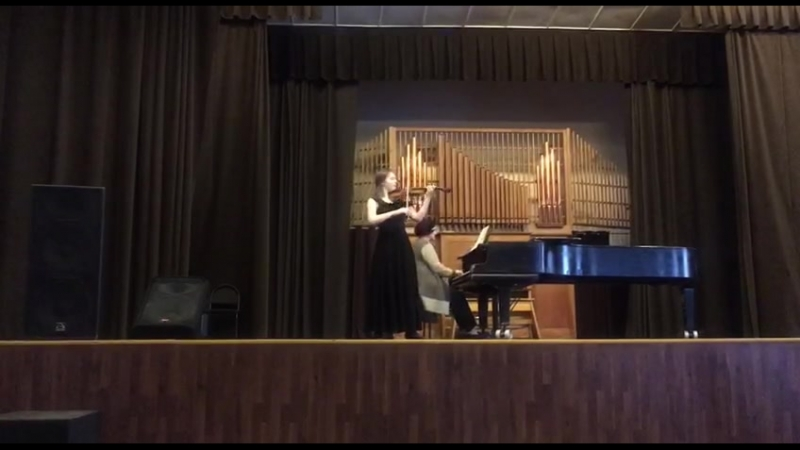 К.Сен-Санс, концерт для скрипки 3 h-moll(3 часть)-Александра Храмова, 2 курс