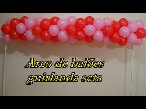 Arco de balões modelo seta