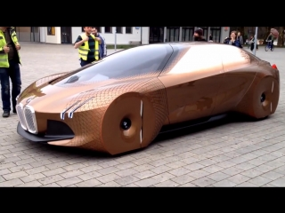 BMW VISION NEXT 100 on street - presentation drive (2017)