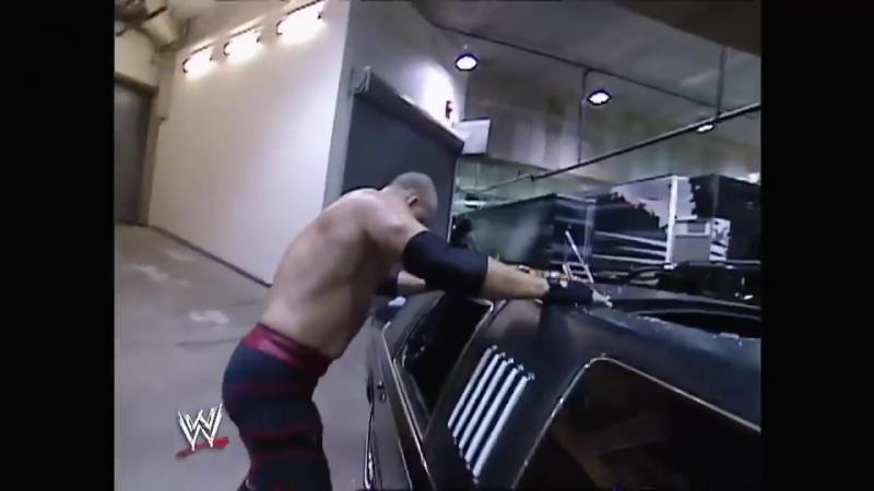 Kane Shane McMahon Limo Accident Segment Raw 10.06.2003