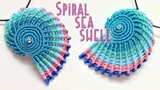 Macrame tutorial - The simple spiral seashell for keychain or pendant - H