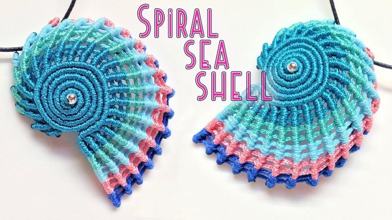 Macrame tutorial - The simple spiral seashell for keychain or pendant - Hướng dẫn thắt vỏ ốc xoắn