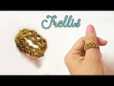 How to macrame a ring with the basic trellis pattern - Step by step tutorial