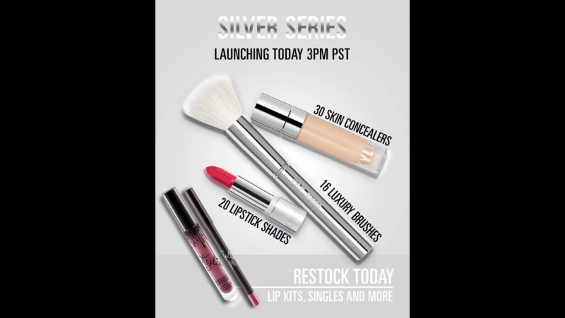 Silver Series launches at 3pm pst today, PLUS we're restocking select Lip Kits, singles, glosses, Ultra Glows and more! KylieCos