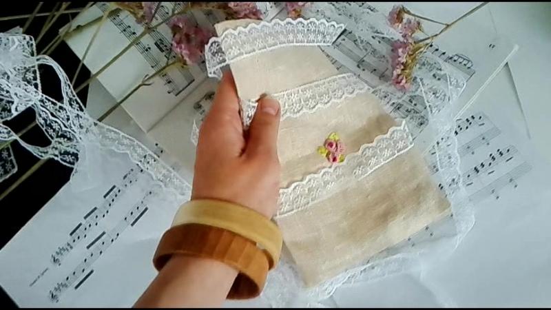 Мешок из льна с вышивкой Rococo