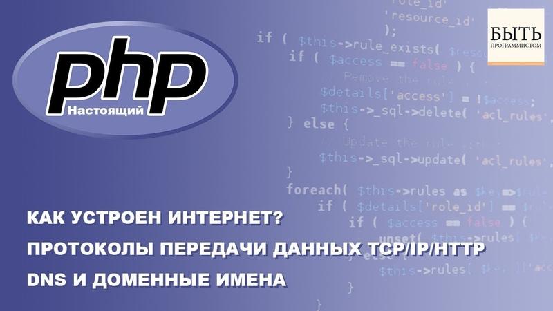 Как устроен интернет Протоколы передачи данных TCPIPHTTP. DNS и Доменные имена