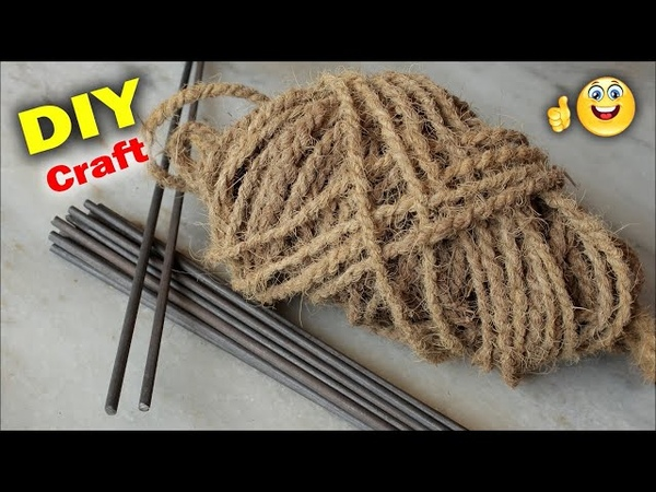 DIY Craft Idea Out of Coconut Rope || Handmade craft || Easy and Fast Doormat Making at Home
