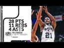 Dominique Wilkins 28 pts 11 rebs 4 asts vs Lakers 96/97 season