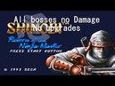 Shinobi III: Return of the Ninja Master (Mega Drive) - All bosses (no Damage) No Upgrades