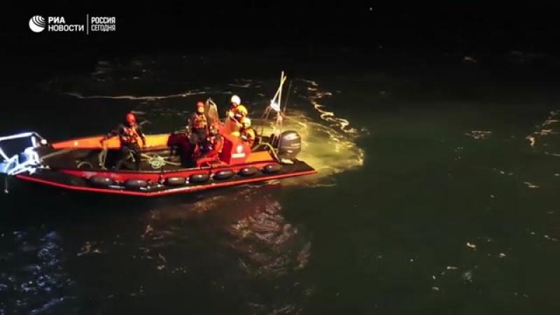 Запуск Фалькона для обследования упавшего в море у Шпицбергена Ми 8