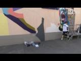 Нанесение стрит-арт рисунка на трансформаторную подстанцию МОЭСК